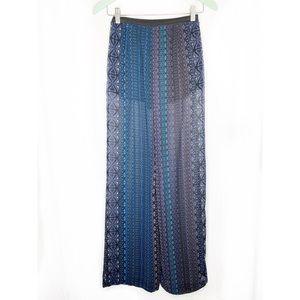 Zara high-waisted Aztec print palazzo pants